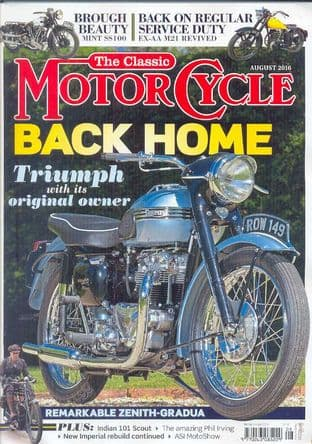 Classic Motorcycle Magazine - 2016-08 August 2016