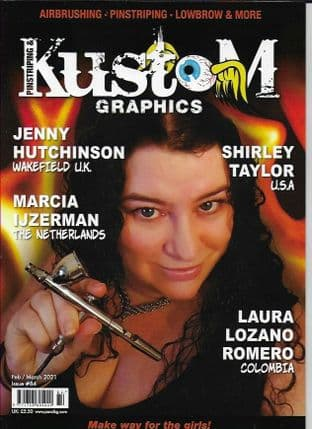 Pinstriping & Kustom Graphics Magazine - No.084  / F-March 2021