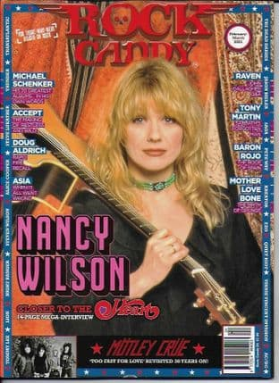 Rock Candy Magazine - Issue  24 F-March 2021 (Featuring NANCY WILSON)