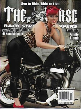 The Horse Backstreet Choppers Magazine - Issue 182 / J-August 2019  (Cover '41 Knucklehead Bobber)
