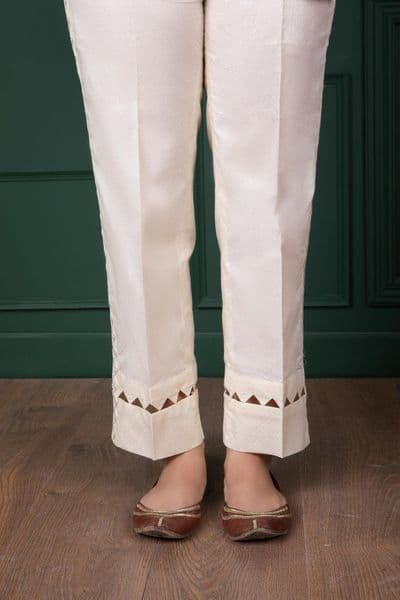 Sapphire - Aztecs Glory Off-White Pencil Trousers