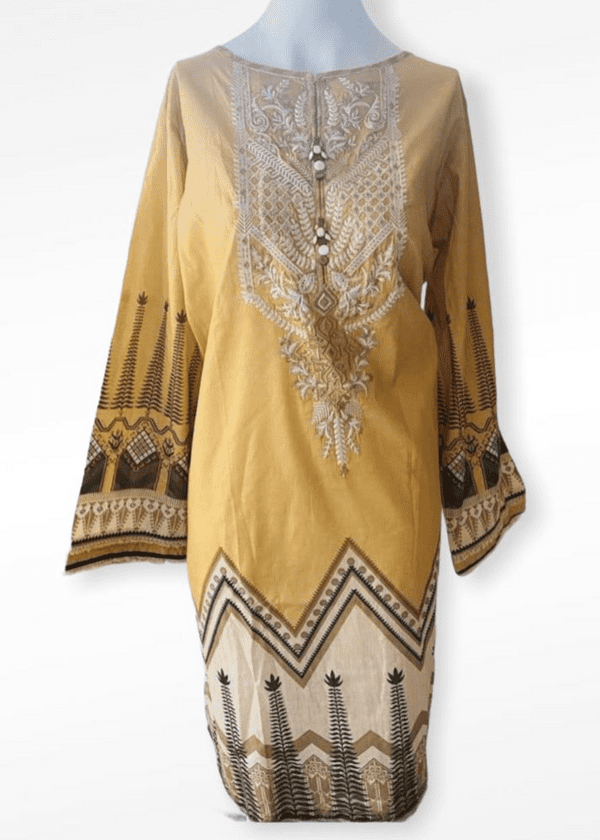 Sapphire - Magnifico Mustard Lawn Outfit