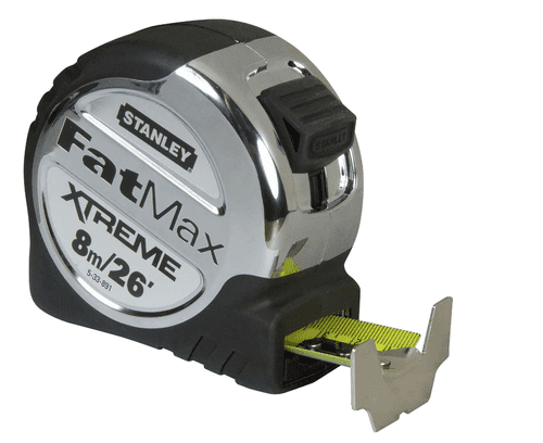STANLEY 0-33-891  8MTR/26' FATMAX  XTREME - METRIC/IMPERIAL TAPE MEASURE