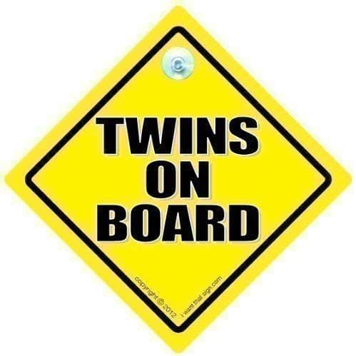 Twins on Board Car Sign