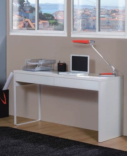 Kuba Artic White Desk With Drawers - 2489