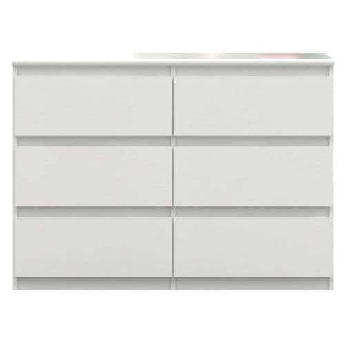 Louise White Gloss Dresser Chest Of Drawers 110cm  - 2574