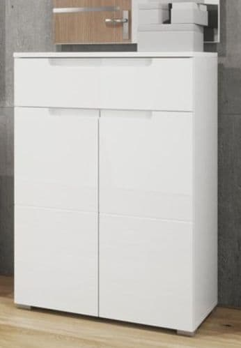 Santino White High Gloss Tall Sideboard S19 - 2929