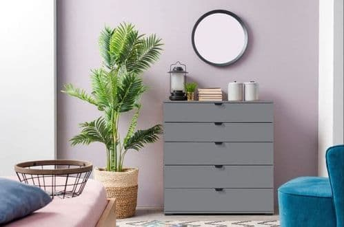 Valentina Grey Chest of Drawers - 3056