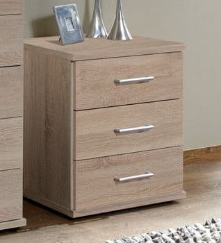 Venice Oak Effect Bedside Chest Of Drawers - 2371