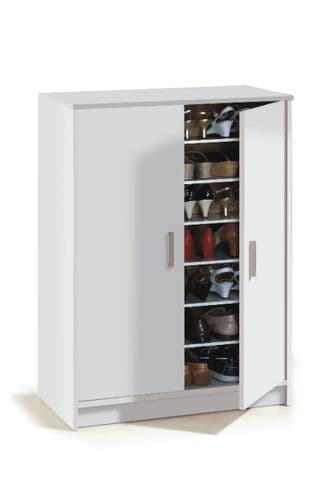 Zuldy Large 30 Pairs White Shoe Cupboard - 2505