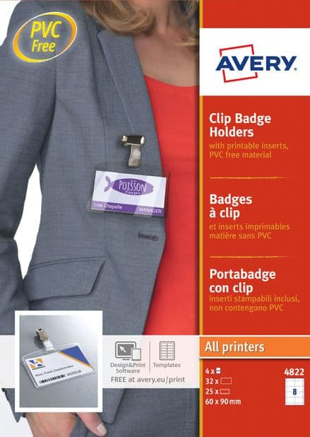 Badge Holders with Clip 4822-20