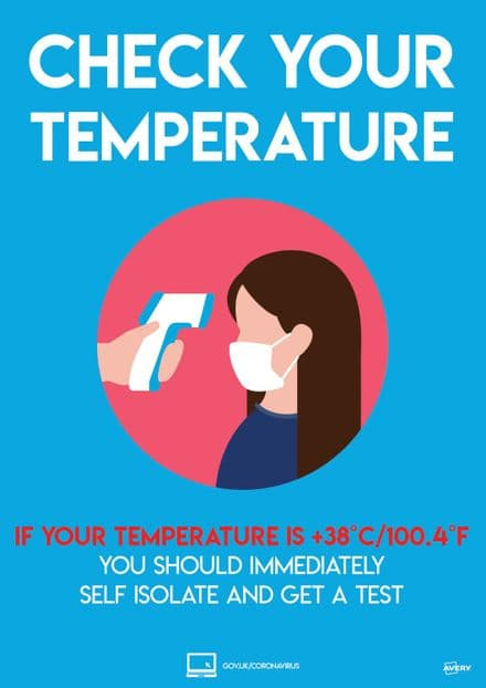 Check your Temperature Sign - COVTEMPA4