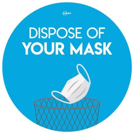 Dispose of your Mask Circular Sign - COVDISP275