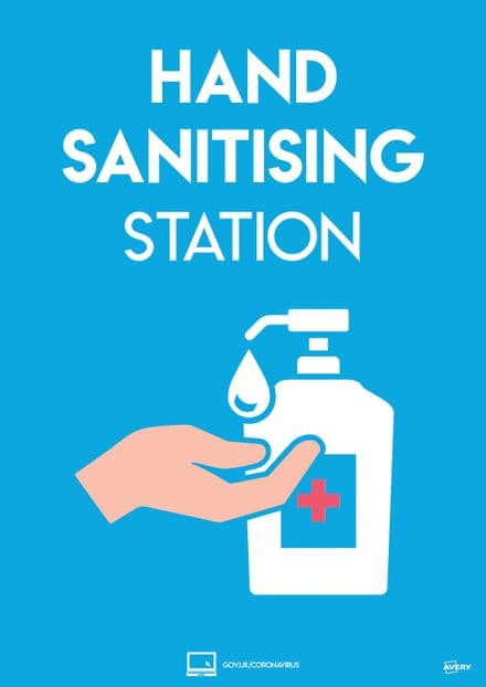Hand Sanitiser Station Sign - COVHSA4