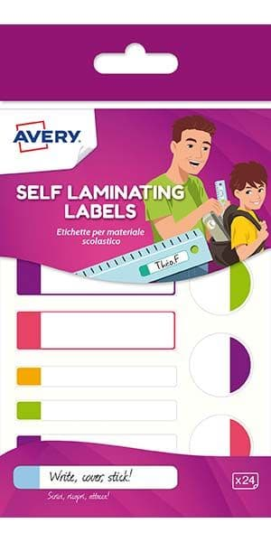 Neon Waterproof Self-Laminating Labels