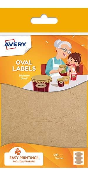 Oval Kraft Labels
