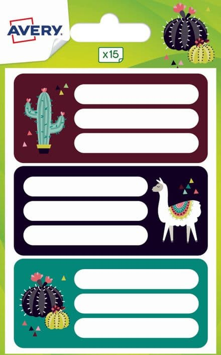 School Book Labels - Fiesta