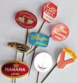 8 Dutch stick pins vintage fashion badges 3 Suisses Opti-Lon Wrangler Jeans  X