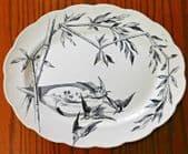 "Antique Loochoo charger platter 16"" serving plate P&B Aesthetic birds Victorian"