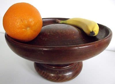 Antique wood Lazy Susan rotating wooden serving bowl Vintage woodenware