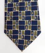 Armando patterned tie blue green check design in good condition
