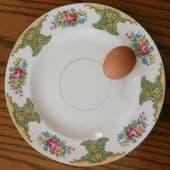 "Dinner plates Washington Pottery Hanley Flower Rose Vintage 1940s 50s china 10"""