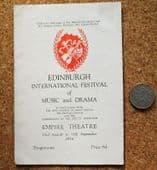Edinburgh Festival ballet programme vintage 1950s Sadler's Wells Fonteyn 1954