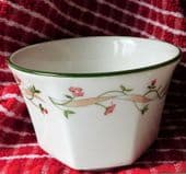 ETERNAL BEAU sugar basin JOHNSON English pottery tableware flowers sugar bowl