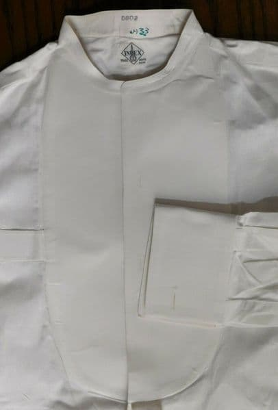 Index starched tunic shirt size 14 vintage 1930s mens formal dress collarless