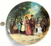 Kaiser Porcelain picture plate Detlev Nitschke Familie Kappelmann Bradex 1980s