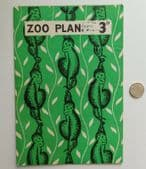 London Zoo Plan 1946 map leaflet with opening times prices vintage 1940s postwar