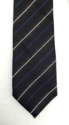 MICHAELIS pure silk tie Man's padded tie in black