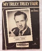 My Truly Truly Fair vintage sheet music 1950s Larry Cross pop song Bob Merrill