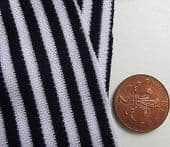 NAVY BLUE & WHITE striped fabric Vintage dress material Tubular knit Sailor suit