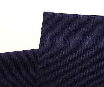 Navy blue wool blend fabric Vintage dress material Tubular knit Nautical pirate