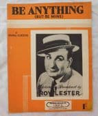 Roy Lester sheet music Be Anything But Be Mine vintage 1950s pop song Gordon