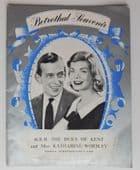 Royal Betrothal Souvenir book Duke of Kent and Katharine Worsley vintage 1960s