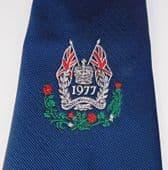 Royal Silver Jubilee tie vintage 1970s Tootal Queen Elizabeth Union Jack 1977