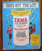 She's Got the Lot vintage 1950s sheet music song Irma La Douce French musical