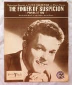 The Finger of Suspicion vintage sheet music 1950s Dickie Valentine pop love song