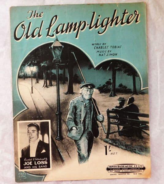 The Old Lamp-Lighter vintage 1940s sheet music song Joe Loss Nat Simon Tobias