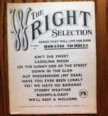 The Wright Selection vintage 1950s song book No Bananas Boomps A Daisy music