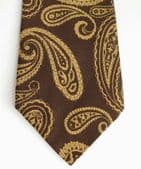 Vintage brown Paisley tie by Marks and Spencer 1960s hippie era lovely condition