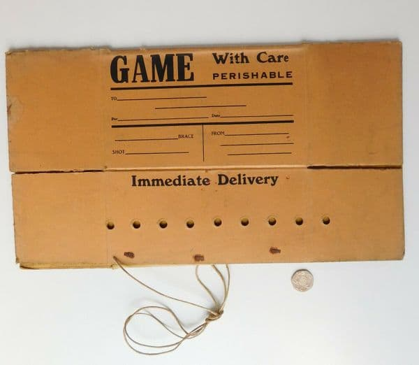 Vintage cardboard boxes for game hunting shooting sport food parcel delivery