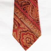 Vintage English Paisley tie All Silk 1950s 1960s
