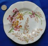 Vintage hand-painted floral plate MEADOW pretty flower pattern 6 inch