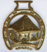 Vintage Horse Brass Cockington Forge Torquay Devon England souvenir ornament