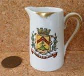 Vintage Limoges porcelain cream jug Dadat KNOCKE SUR MER Belgium crested china