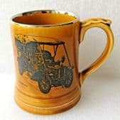 Wade MOKO mug Veteran Car Club Sunbeam Tourer 1904 Small vintage pottery tankard