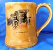 Wade MOKO tankard Veteran Car de Dion Bouton 1904 vintage pottery pint mug